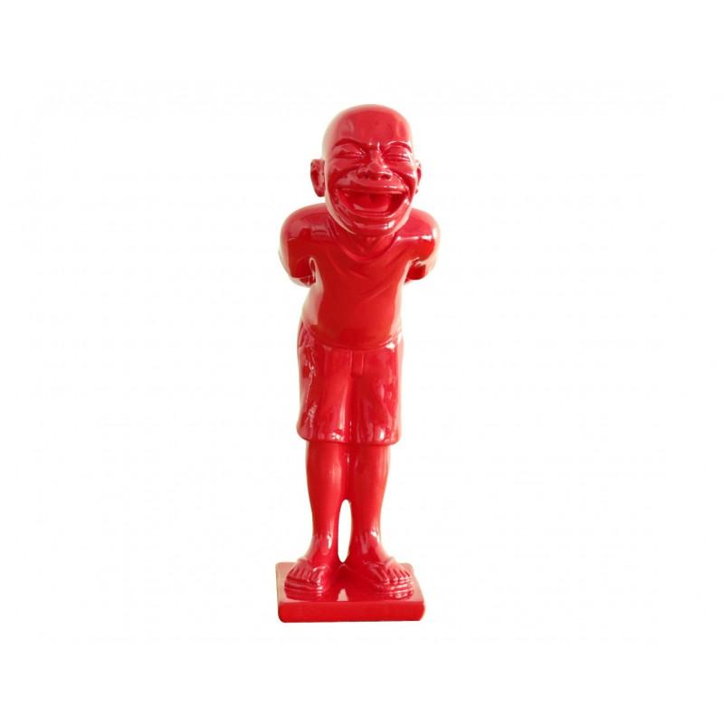 Petit homme rouge figurine d corative objet design moderne for Objet deco design rouge