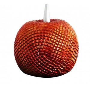 Sculpture décorative cerise rouge texture perlée ciselée effet strass - design moderne contemporain