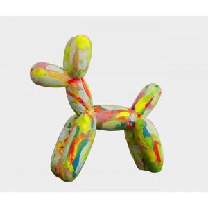 Petit chien style BALOON multicolore- Figurine décorative -style pop art - objet design moderne