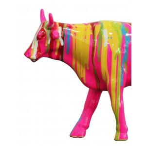 Sculpture vache multicolore - style design contemporain moderne