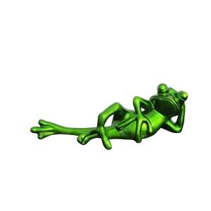 Figurine grenouille décoration verte - design moderne contemporain