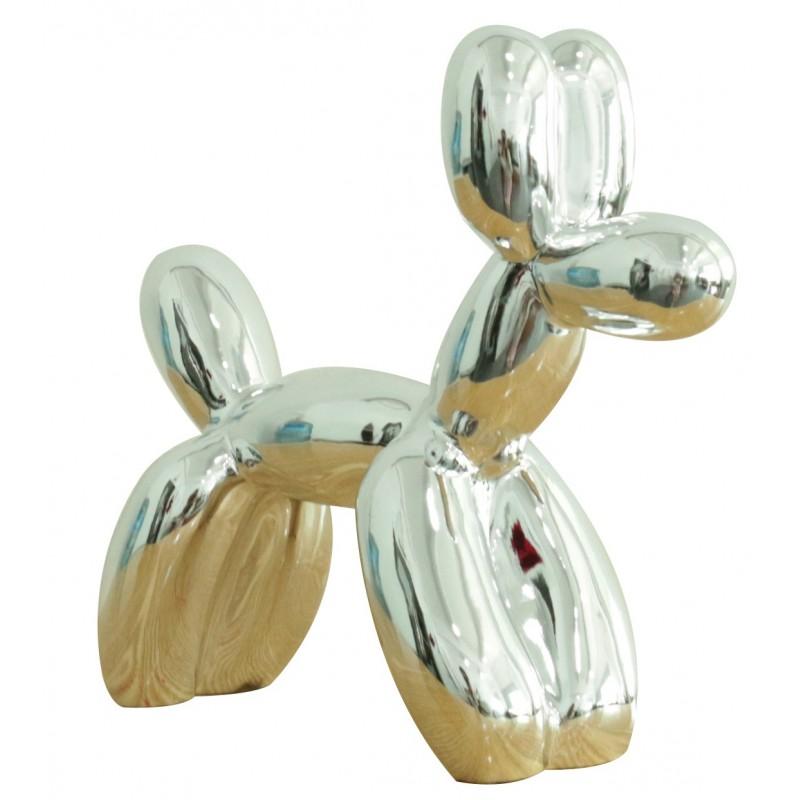 petit chien argent style baloon figurine d corative style pop art objet design moderne. Black Bedroom Furniture Sets. Home Design Ideas