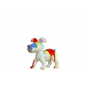 Petit chien sculpture décorative museau bleu - design moderne contemporain