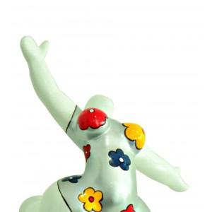 statue femme figurine blanche danseuse d coration florale style pop art objet design moderne. Black Bedroom Furniture Sets. Home Design Ideas