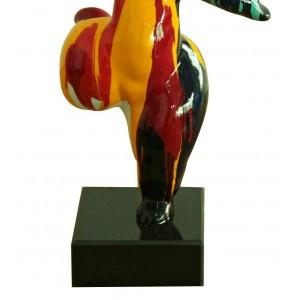 Statue femme figurine danseuse décoration orange style pop art - objet design moderne