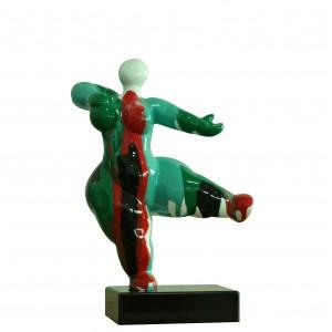 Statue femme figurine danseuse décoration verte style pop art - objet design moderne