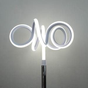 Lampadaire design et original LED boucles - Eclairage dynamique blanc froid - Classe énergétique A++ - ARIES