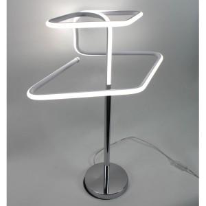 Lampe design à poser originale LED losangée - Eclairage dynamique blanc froid - Classe énergétique A++ - DIAMOND