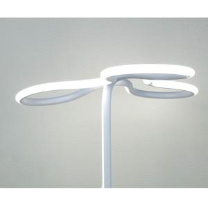 Lampadaire design et original LED angulaire - Eclairage dynamique blanc froid - Classe énergétique A++ - CLOVER