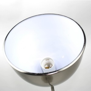 Lampadaire à 2 têtes flexible en métal - gris - finition nickel satiné - Modèle FLEXILUZ