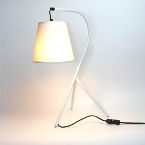 Lampe chevet design à trépied - abat-jour en suspension - Blanc - Modèle CAMPANA