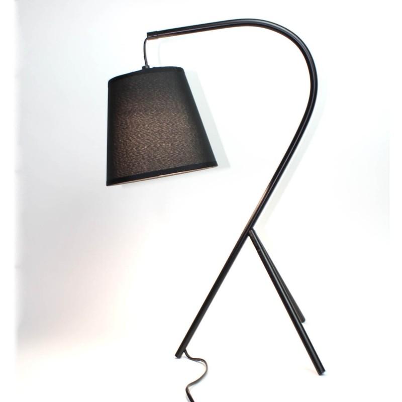 lampe chevet design tr pied noir campana. Black Bedroom Furniture Sets. Home Design Ideas