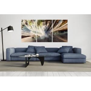 tableau plexiglas verre acrylique - photo cascade - nature - paysage - contemporain - triptyque