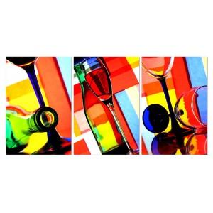 tableau plexiglas verre acrylique photos artistiques verres et bouteilles multicolores. Black Bedroom Furniture Sets. Home Design Ideas