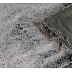 Lot plaid + 1 coussin moelleux - couleur gris givré- toucher douceur extrême - épais -chaud -DOUDOU