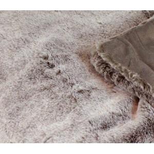 Lot de 2 Plaids moelleux - couleur taupe givré- toucher douceur extrême - épais -chaud -DOUDOU