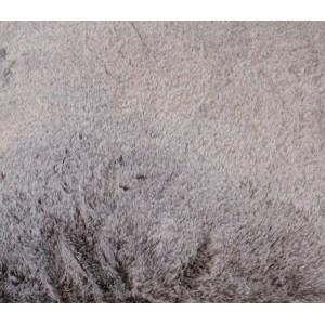 Coussin moelleux - couleur taupe givré- toucher douceur extrême - épais -chaud -DOUDOU