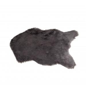 tapis - aspect fourrure couleur grey - salon- descente de lit - plaid canapé - toucher douceur intense - POLUX