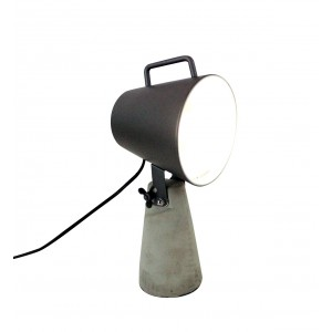 lampe design industriel b ton m tal noir style projecteur lante. Black Bedroom Furniture Sets. Home Design Ideas