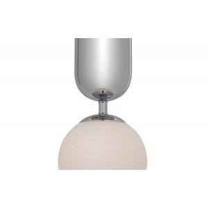 Suspension boule en verre avec une finition chromée – style rétro – GLOBE CHROME
