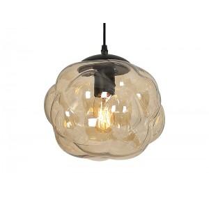 suspension en verre transparent couleur champagne bubble. Black Bedroom Furniture Sets. Home Design Ideas