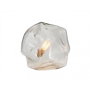 Lampe à poser design multi-facettes en verre transparent – METEORE