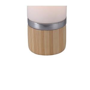 Lampe à poser cylindrique en verre opaque blanc style scandinave –  NEILS