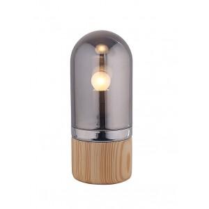 Lampe à poser cylindrique en verre teinté gris style scandinave –  NEILS
