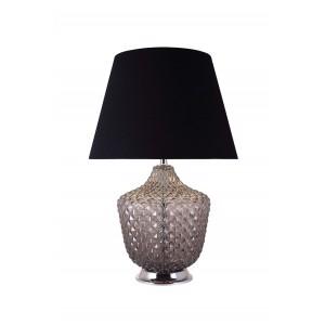 Lampe à poser en verre coloré gris style classique chic - ROMA