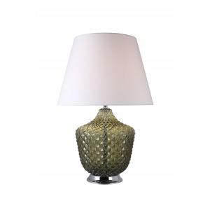 Lampe à poser en verre coloré vert style classique chic - ROMA