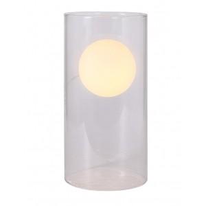 Lampe à poser tube en verre transparent - design moderne  - FANTOME