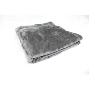 Plaid couverture polaire moelleuse - gris anthracite reflet argenté- ultra douce - CHAMONIX
