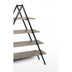 Etagère échelle en béton et acier - rangement  - design moderne et  industriel