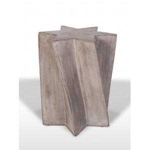 Sellette décorative en béton au design étoile - bout de canapé - sculpture originale et unique - design contemporain