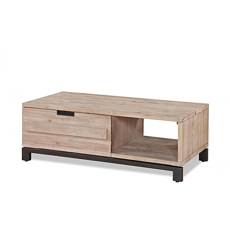 Table basse acacia massif texas for Table basse acacia