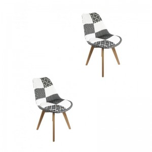 Lot de 2 chaises PATCHWORK...