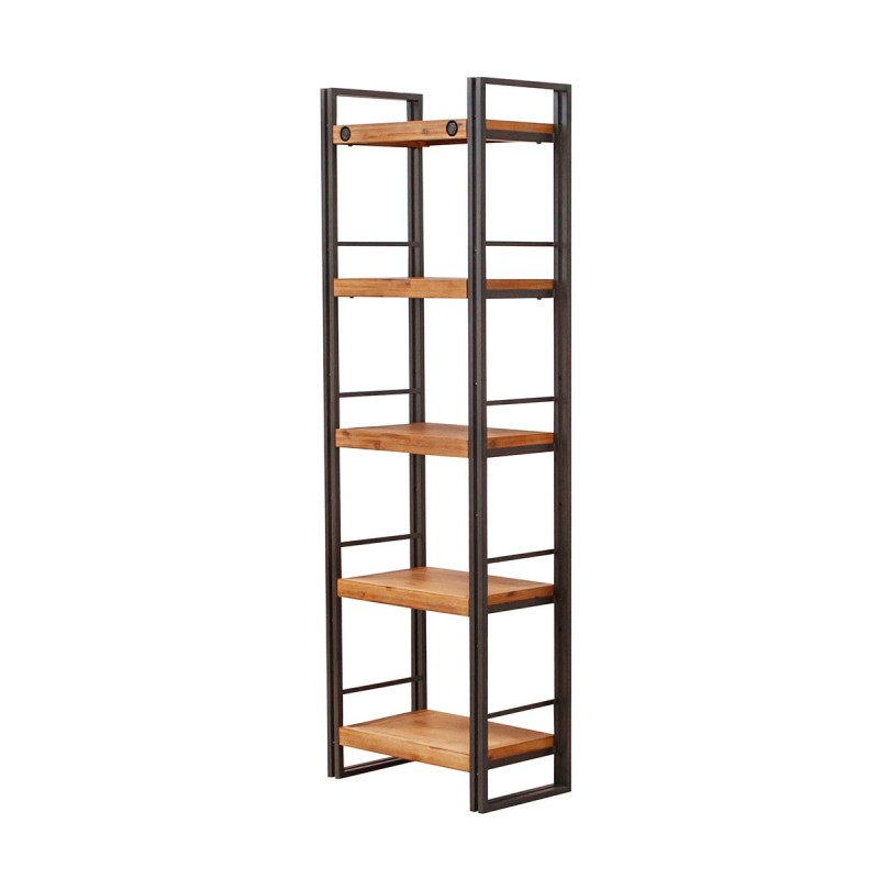 Bibliothèque métal & acacia 60 x 35 – Workshop