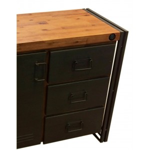 buffet commode workshop 3 tiroirs, 1 porte