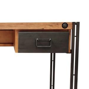 bureau style industriel 2 tiroirs design acacia m tal workshop. Black Bedroom Furniture Sets. Home Design Ideas