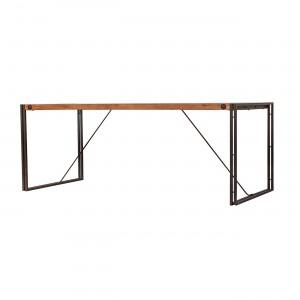Table 160 cm acacia et métal design industriel Workshop