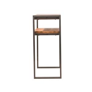 Console Workshop design industriel atelier loft acacia et métal