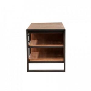 Meuble TV design indus esprit atelier loft - acacia et métal- Workshop