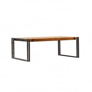 Table basse design industriel loft atelier- acacia et métal - Workshop