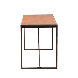 Bureau design acacia métal – WORKSHOP - design indus loft atelier- acacia et métal