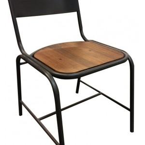 lot 2 chaises design industriel workshop chaise. Black Bedroom Furniture Sets. Home Design Ideas