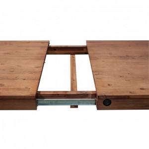 Table repas extensible en acacia design indus atelier – WORKSHOP