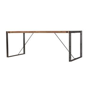Table fixe bois & acacia 200 x 90 – design indus atelier - WORKSHOP