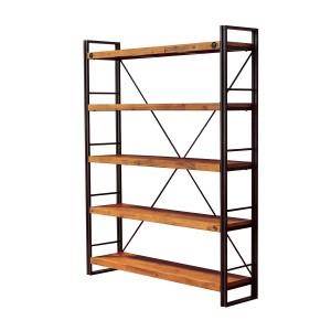 Bibliothèque métal & acacia H 190 x L 150 – Workshop