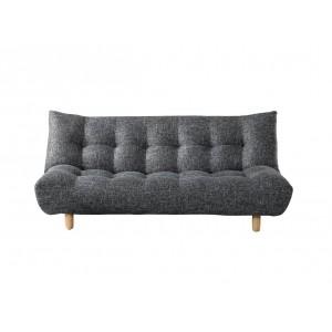 Canapé GRIS / NOIR 3 places convertible lit - moelleux et confortable - MAYA