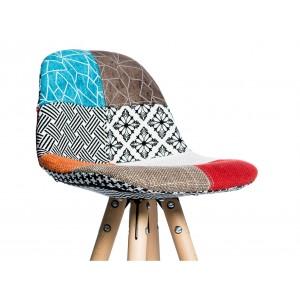 Lot de 2 tabourets de bar patchwork tissu design - DIANA